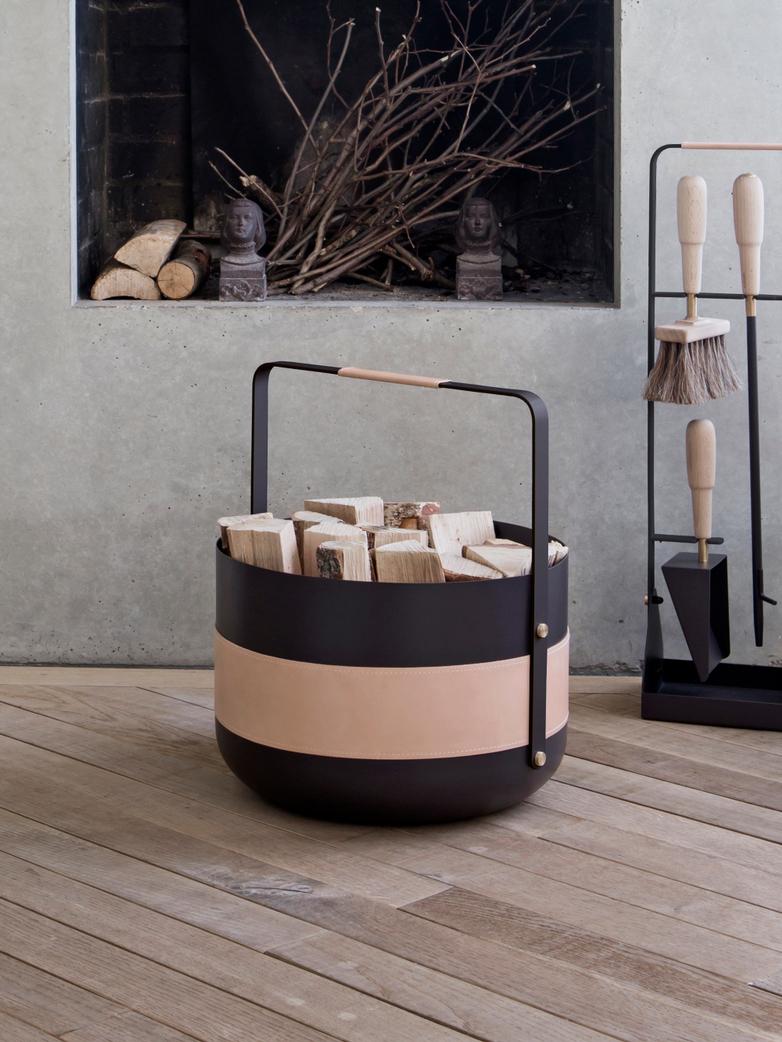Wood Basket Emma Naturell II