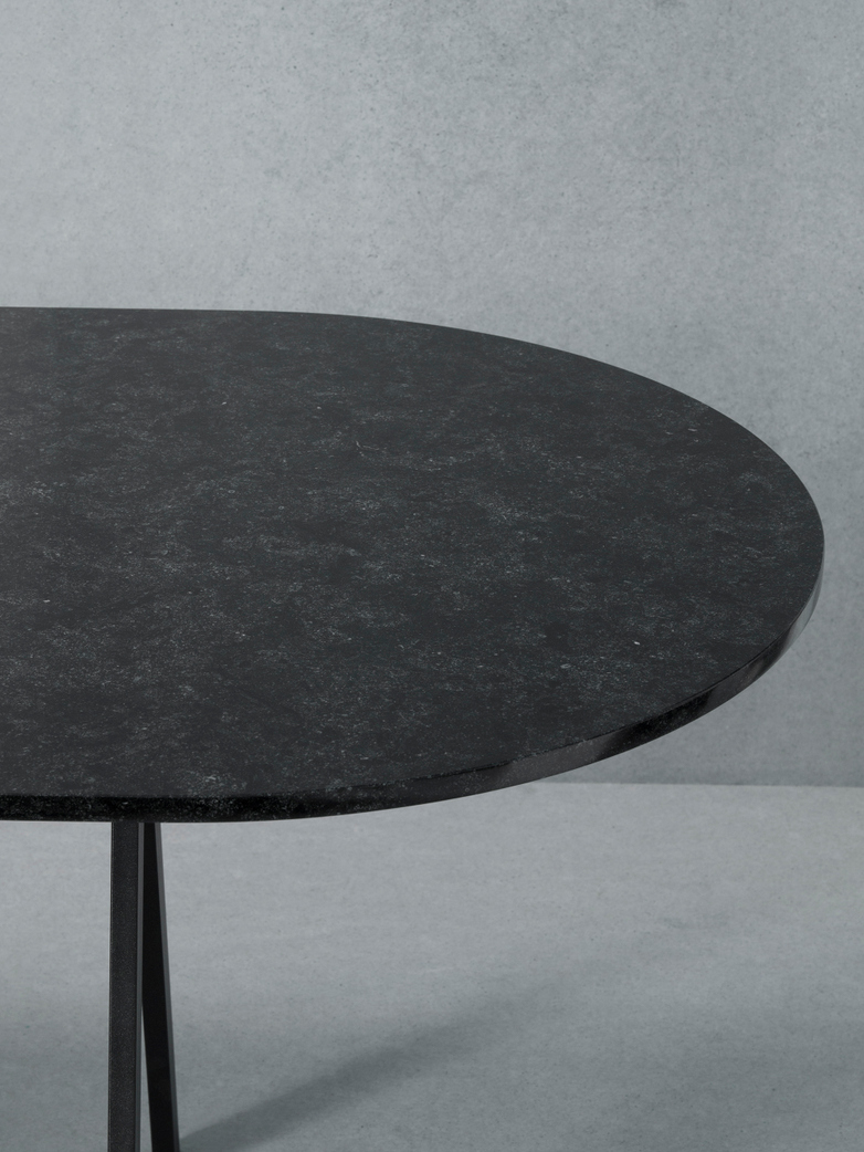 Saw Table Black Marble