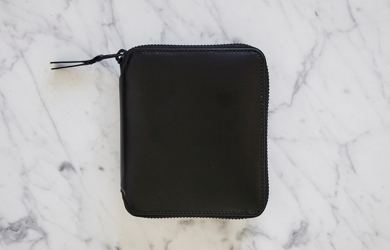 Very Black Zip Around Wallet