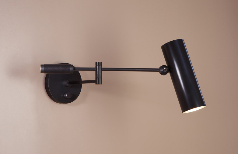 Cylinder Swing Arm Sconce