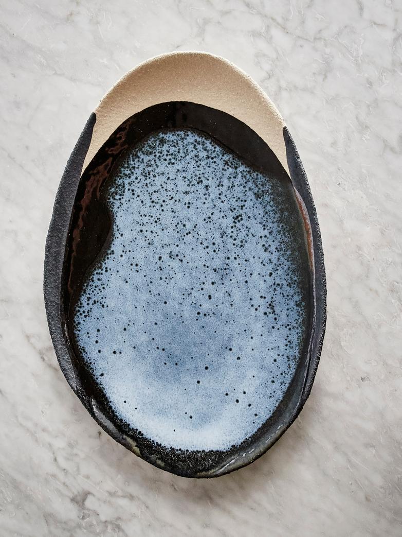 Oval Plate Wabi Awa