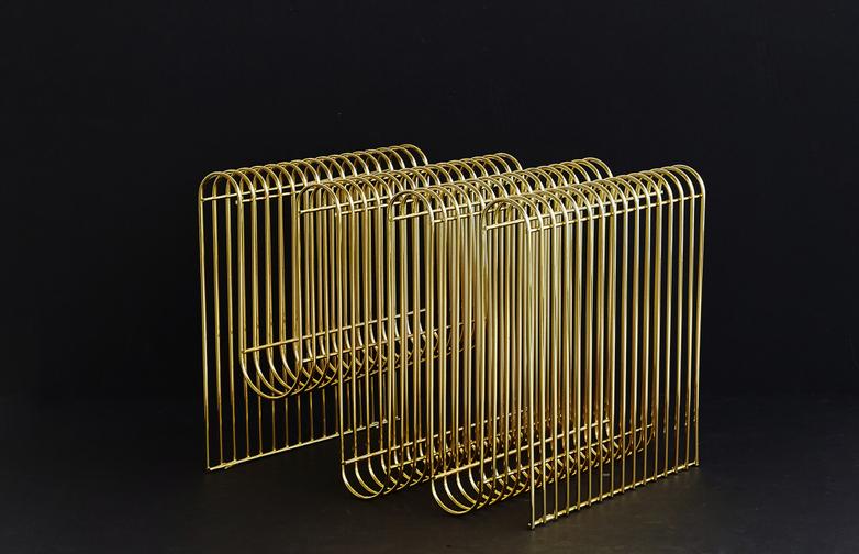 Curva Magazine Holder Brass