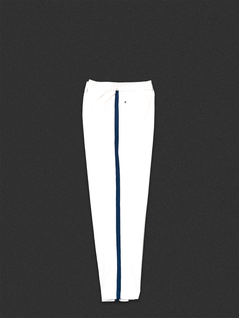 Button Trousers White/Blue