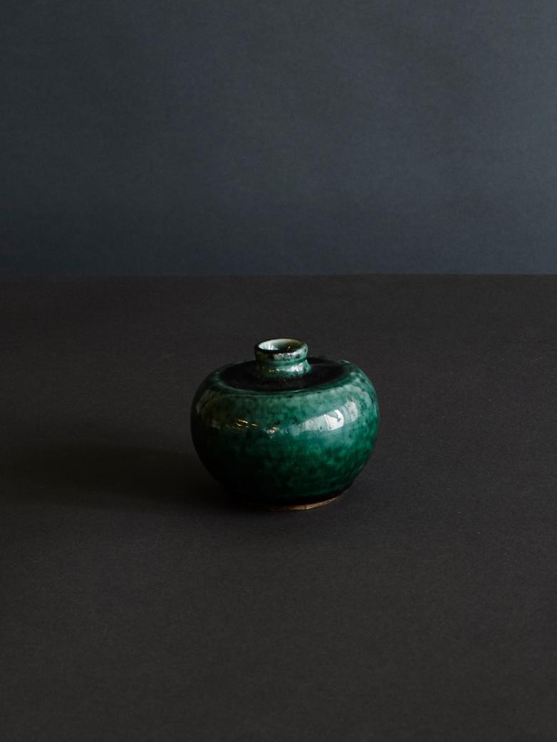 Flat Vase Glazed