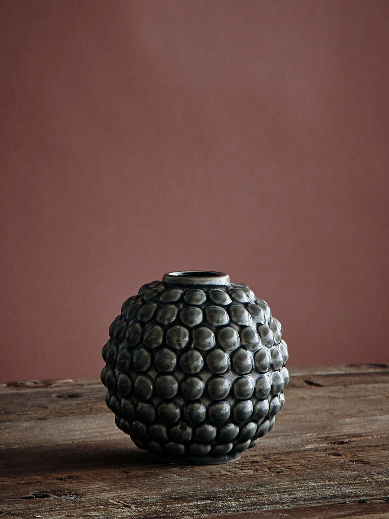Vase Dotty Round - Grey