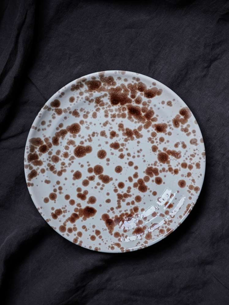 Spruzzi Vivente - Dinner Plate 28 cm - Brown