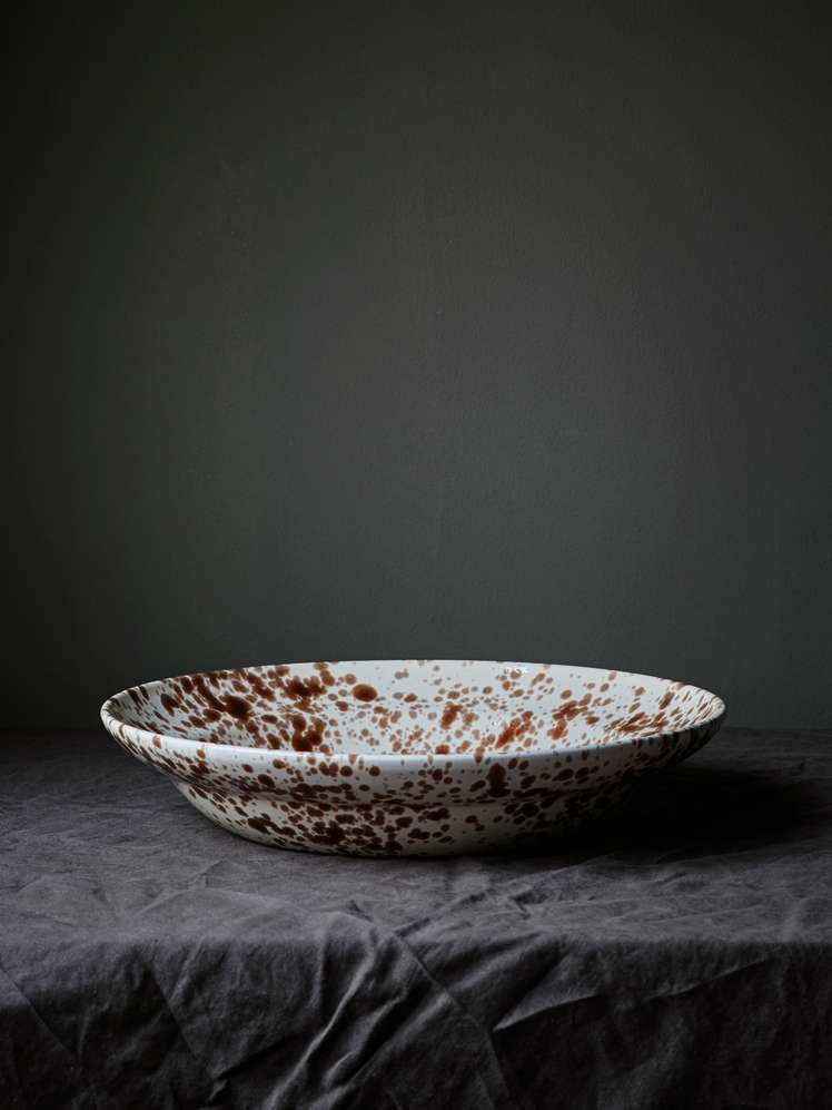 Spruzzi Vivente - Big Serving Bowl - Brown