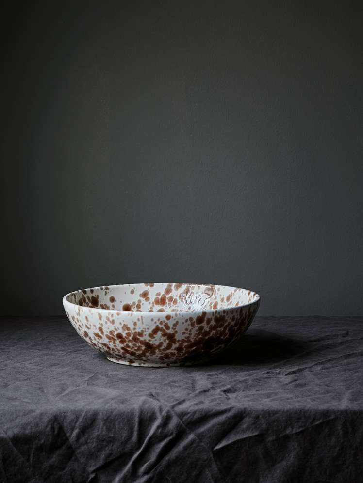 Spruzzi Vivente - Splatter Bowl - Brown