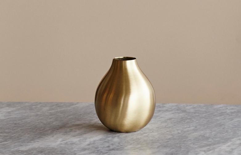 Brass Drop Vase