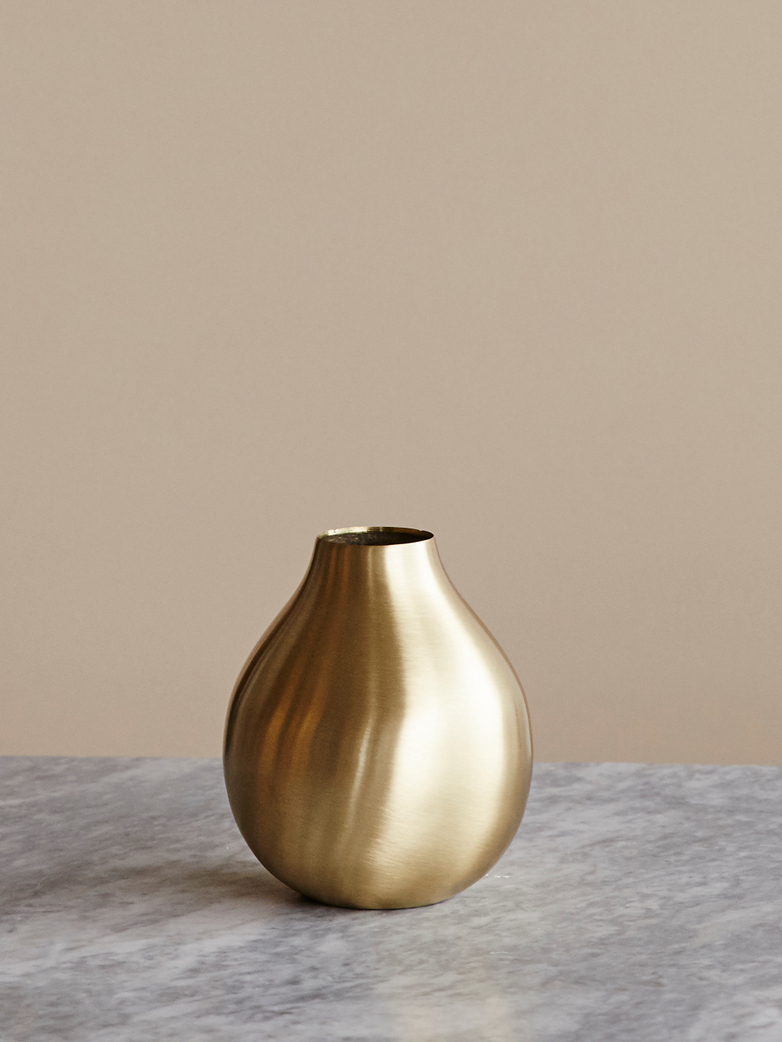 Brass Drop Vase