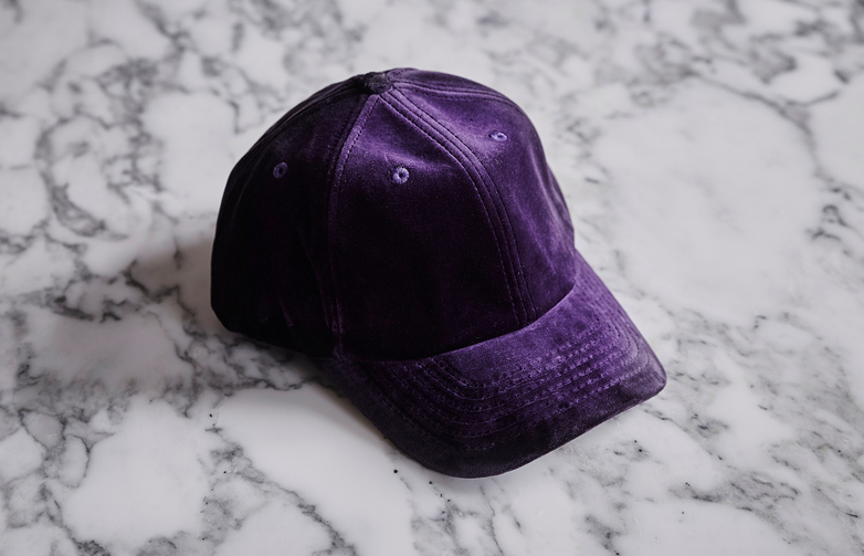 Velvet Cap Dark Purple