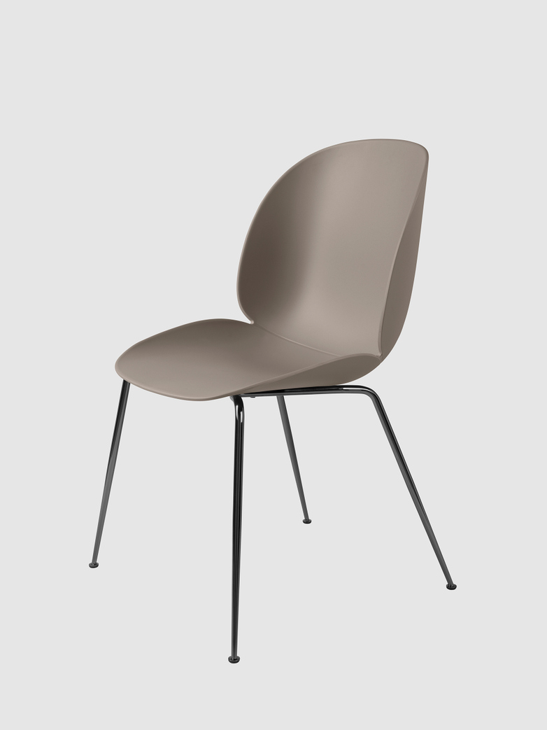 Beetle Dining Chair Un-upholstered - Chromed Legs