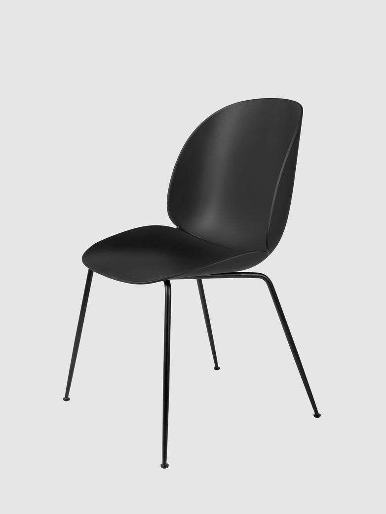 Beetle Dining Chair Un-upholstered - Black Legs