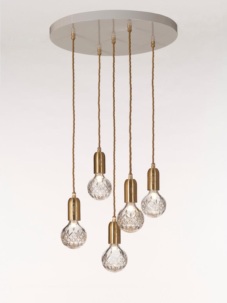 Crystal Bulb Chandelier Clear
