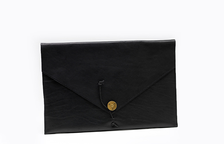 Ipad Cover Leather Black