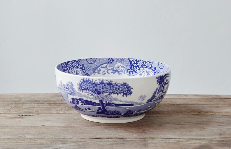 Blue Italian Round Bowl