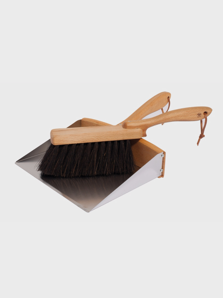 Dust pan hand brush set