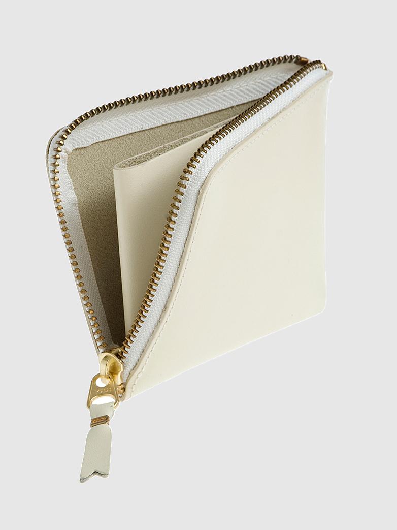 Classic Zip Wallet White